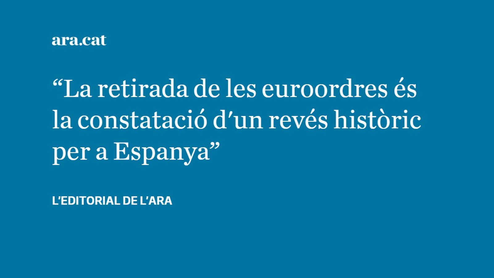 Derrota de la justícia espanyola