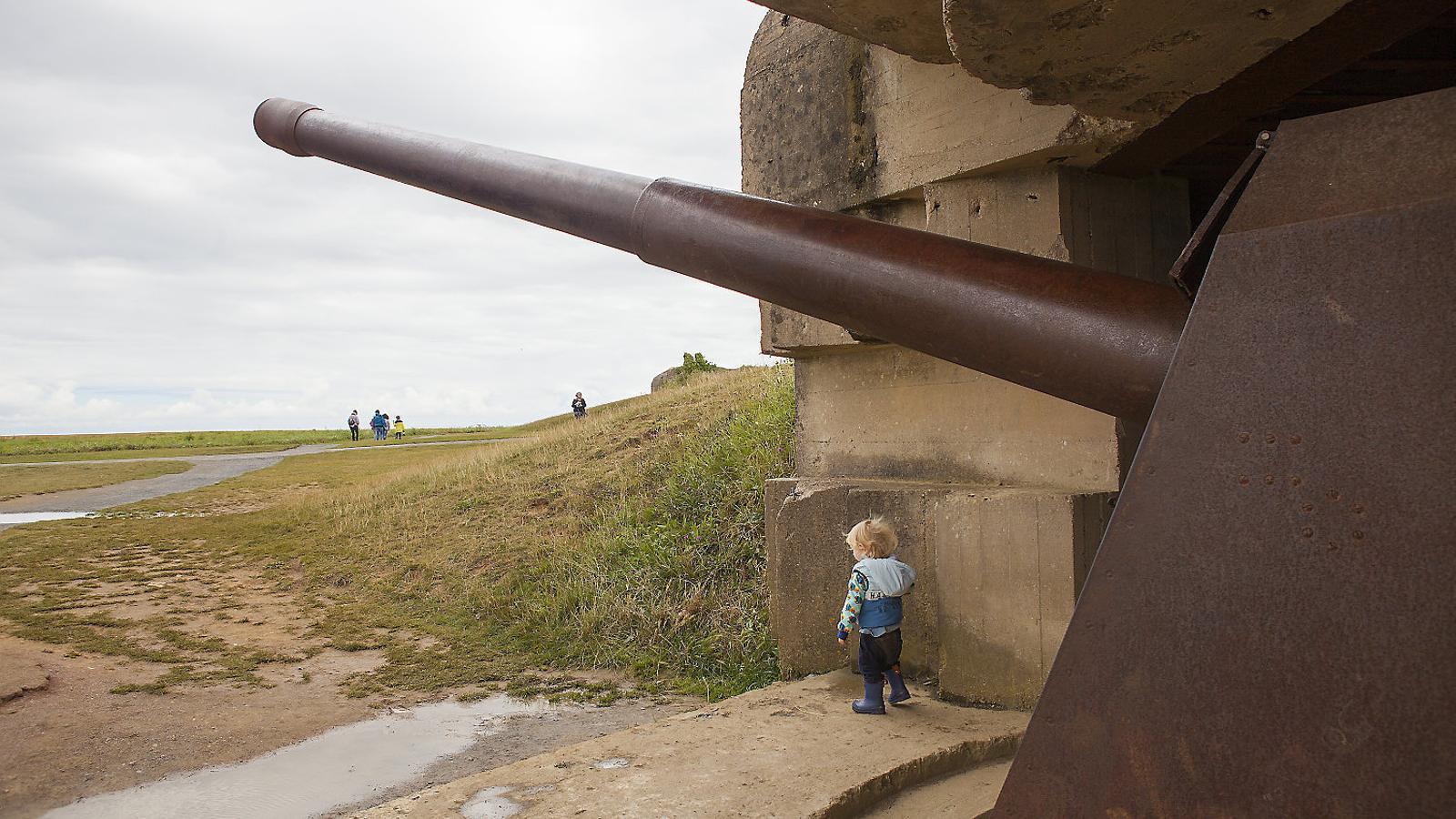 La bateria alemanya a Longues-sur-Mer és la més ben conservada de tota la costa normanda