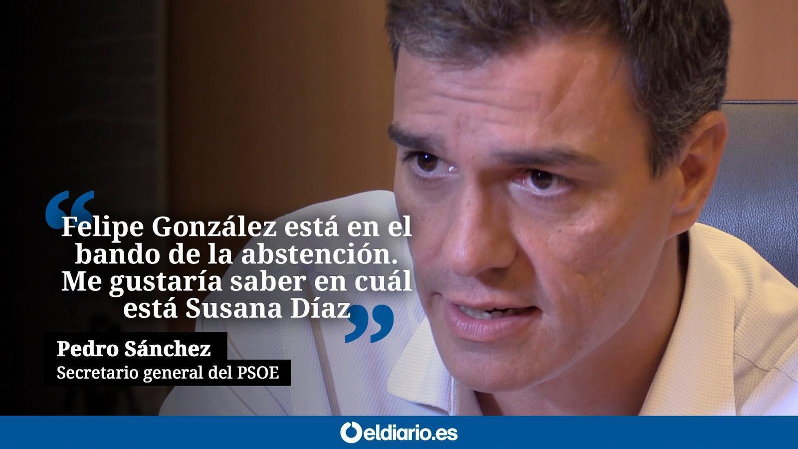 Extracte de l'entrevista de Pedro Sánchez a Eldiario.es