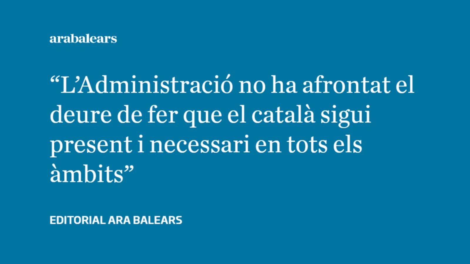 L'ús social del català a les Balears: no n'hi ha prou amb el que es fa
