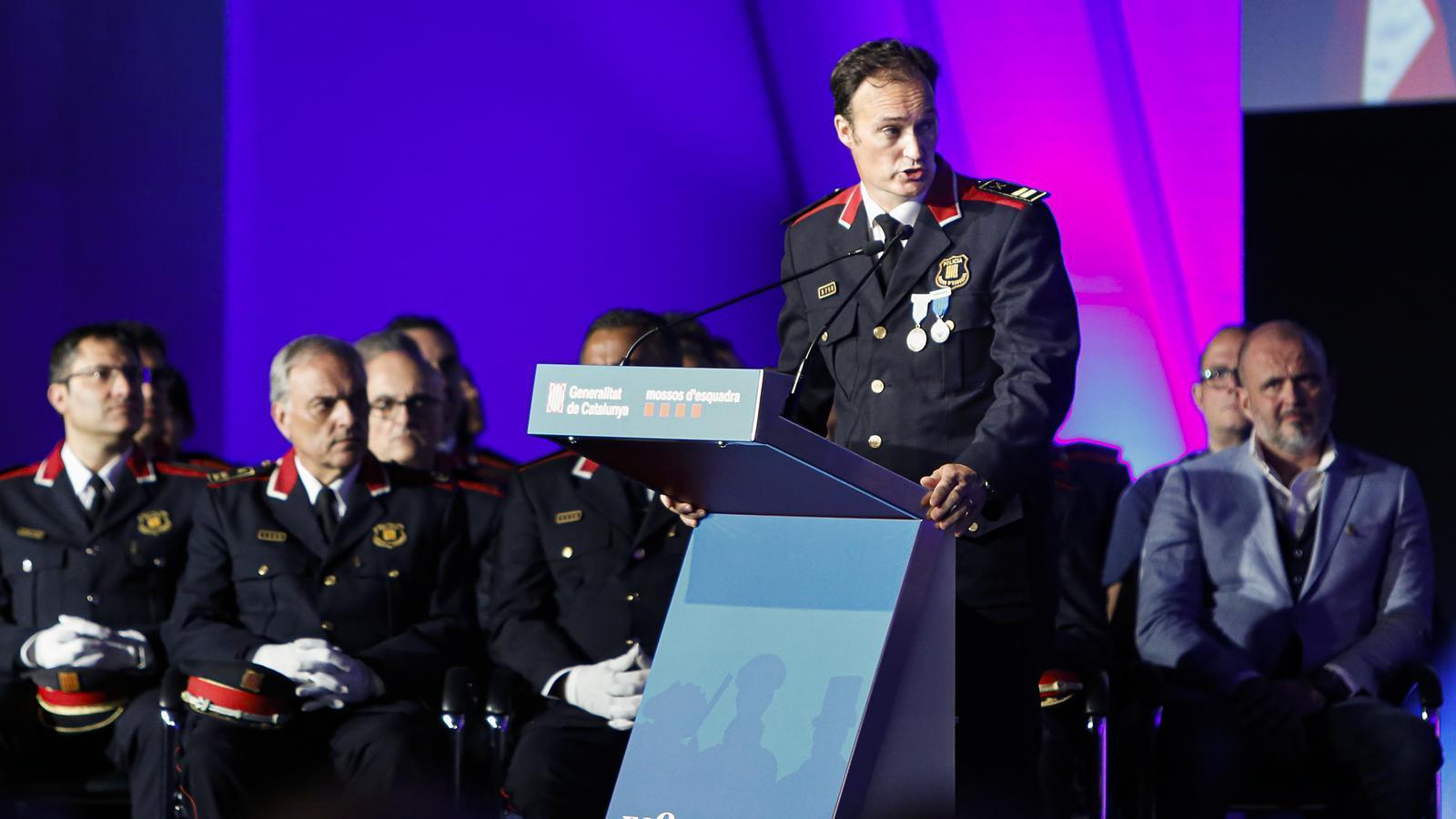 """El cap dels Mossos reclama a la Generalitat """"tenir en consideració"""" la tasca del cos davant del coronavirus"""