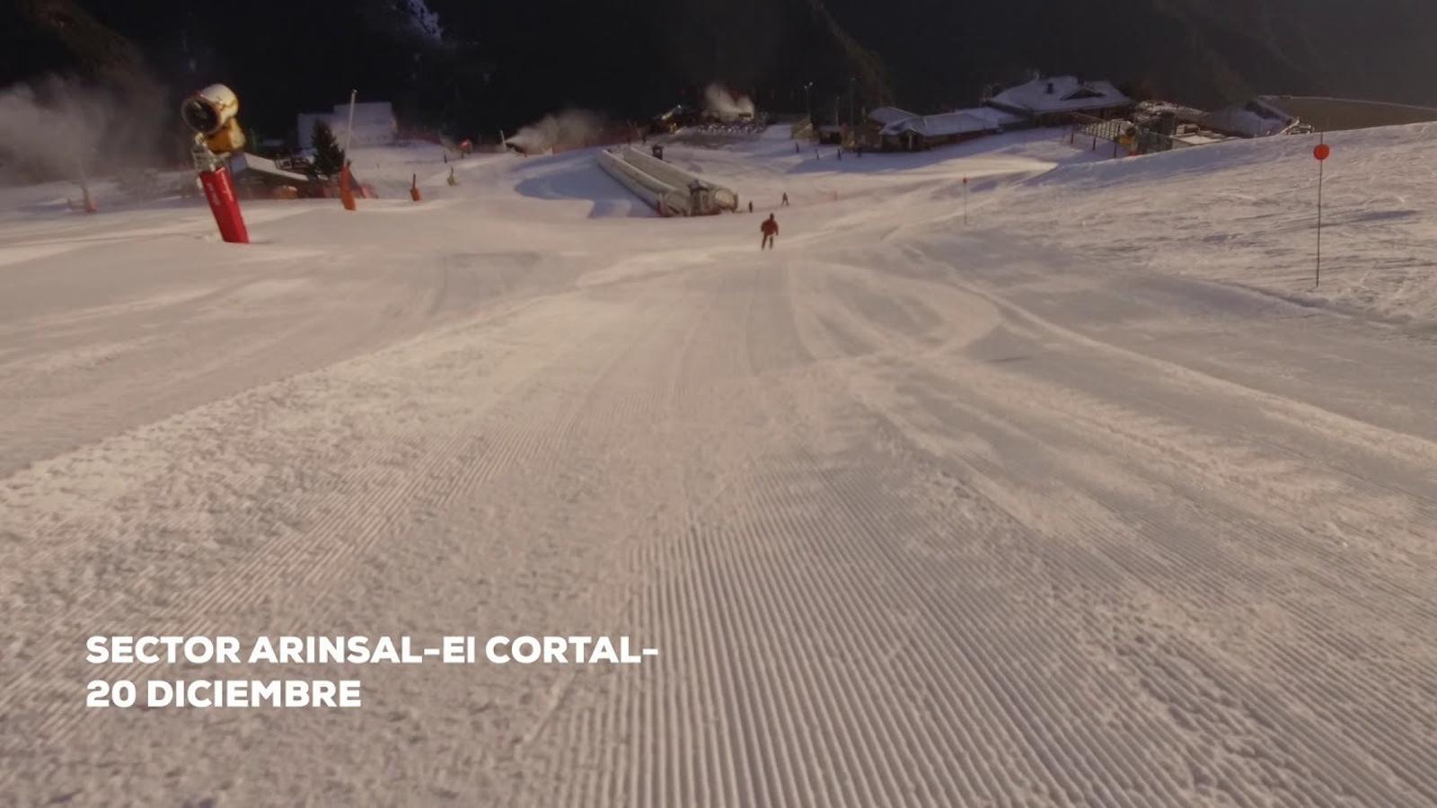 L'estat de les pistes d'Arinsal. / Vallnord