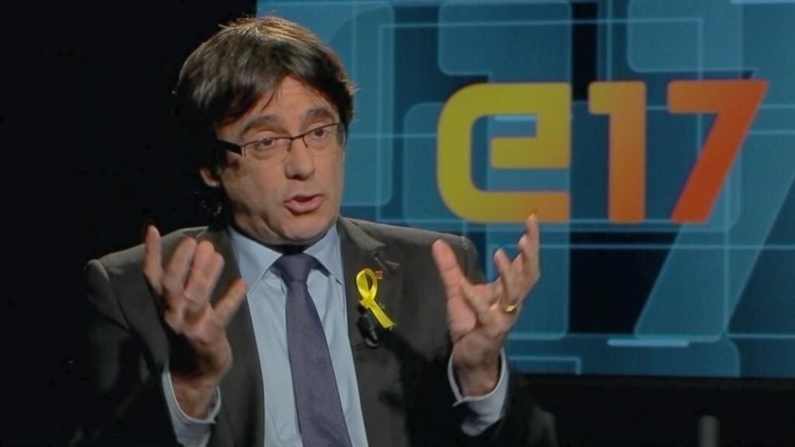 Puigdemont firma l'entrevista electoral més vista a TV3