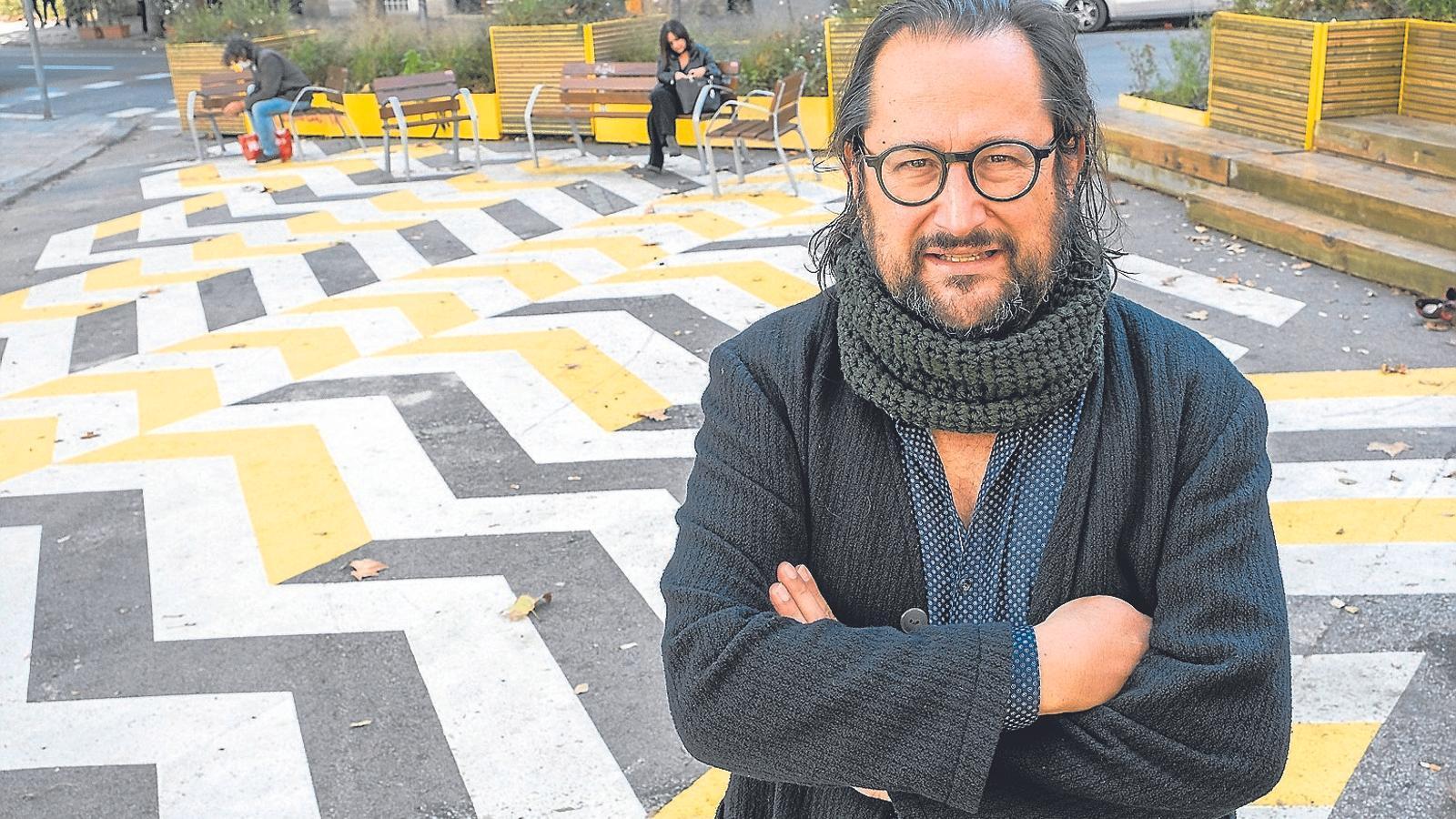 Francesc Magrinyà, conseller de BComú a l'Eixample i un dels ideòlegs dels eixos verds