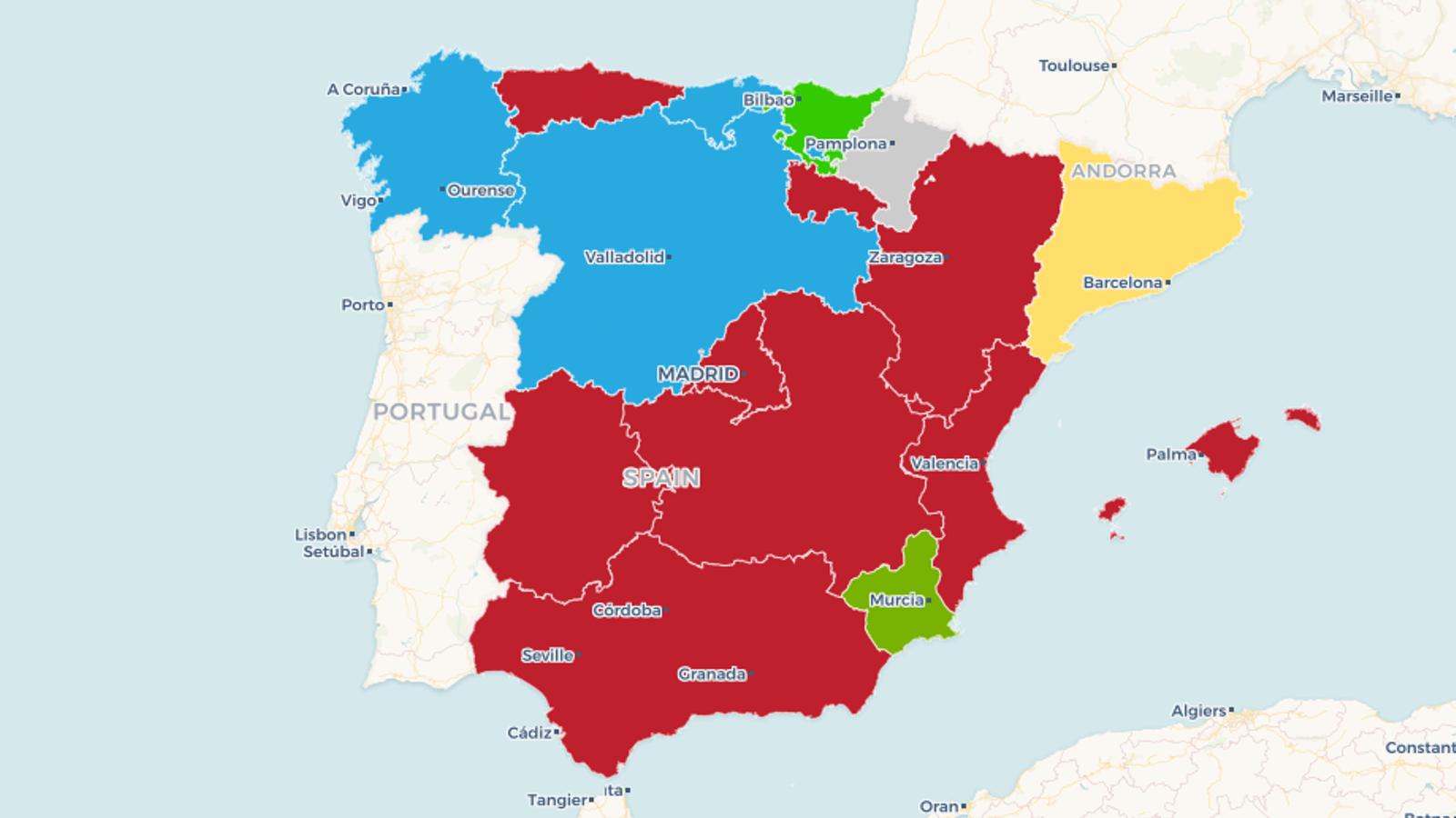 Mapa Interactiu Provincies Espanya.Mapes Interactius El Guanyador I El Vot A Cada Partit Per Comunitats I Per Provincies