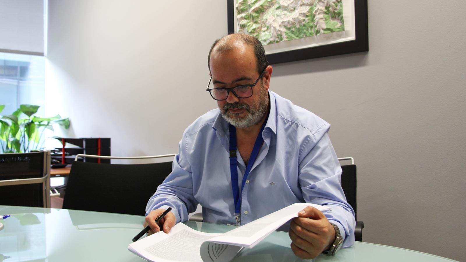 El director de l'Agència Andorrana de Protecció de Dades, Joan Crespo. / E. J. M.
