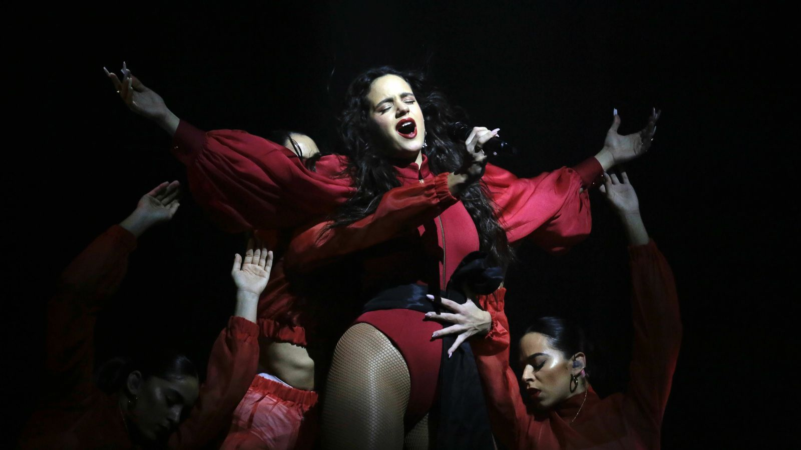 Rosalía during her concert at the Palau Sant Jordi in Barcelona