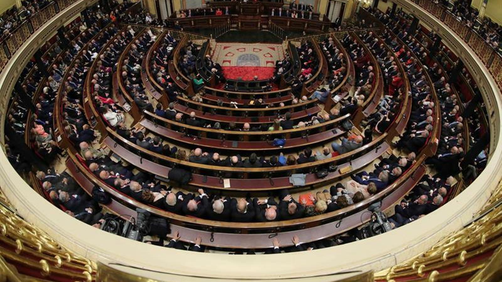 Desenes de fórmules per jurar/acatar la Constitució al Congrés
