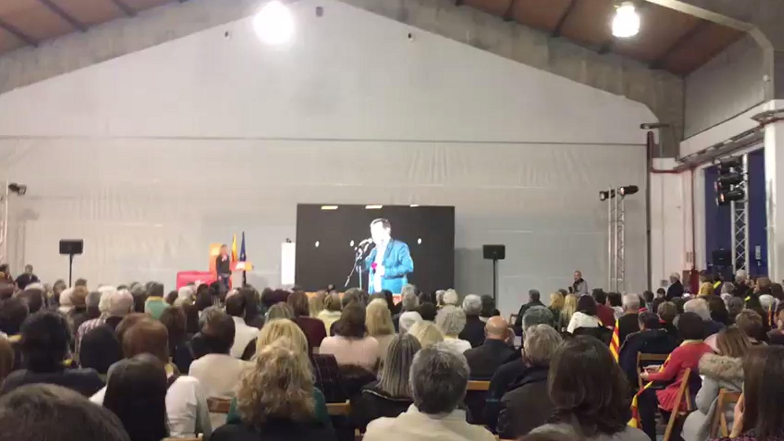 El vídeo de Jordi Sànchez, a l'acte de JxCat a Tarragona