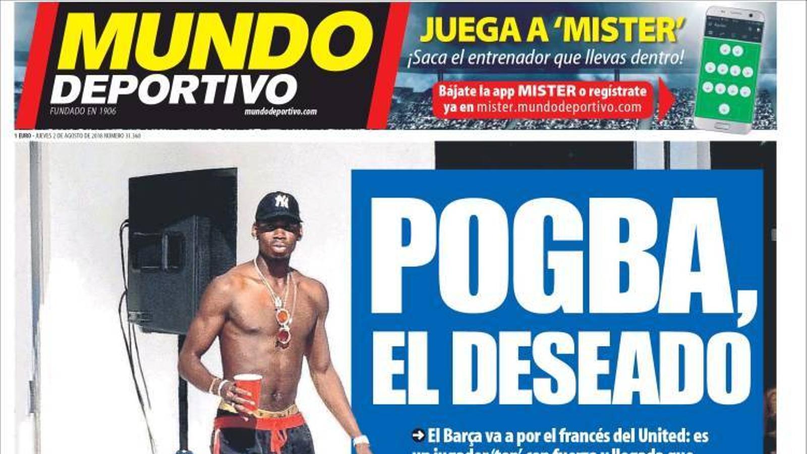 Portada 2 agost 2018 Mundo Deportivo