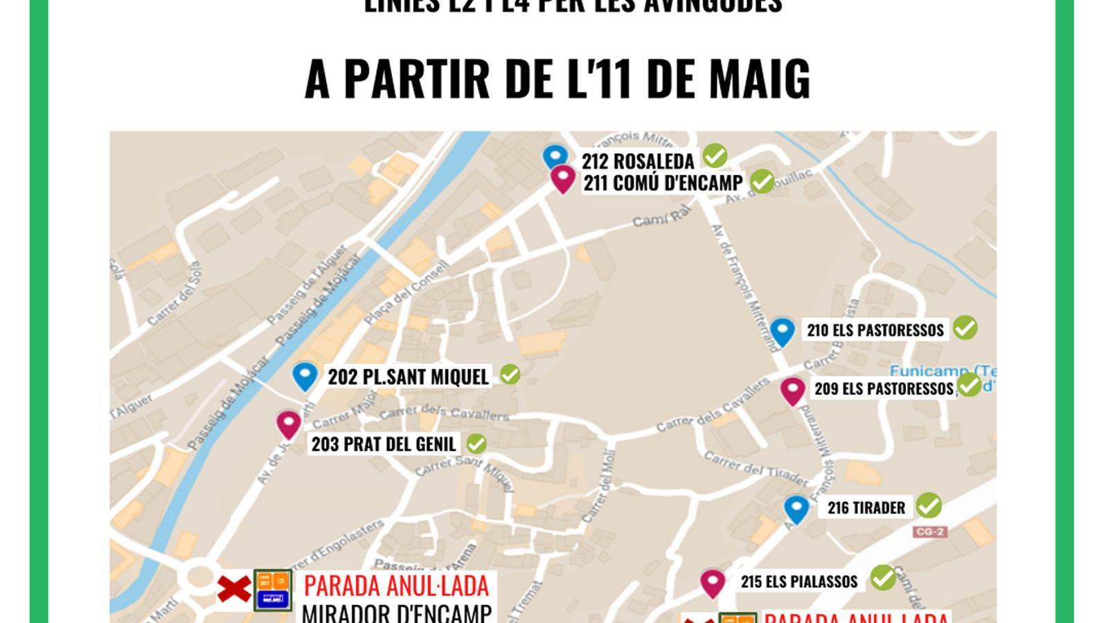 El gràfic amb les parades. / COMÚ D'ENCAMP