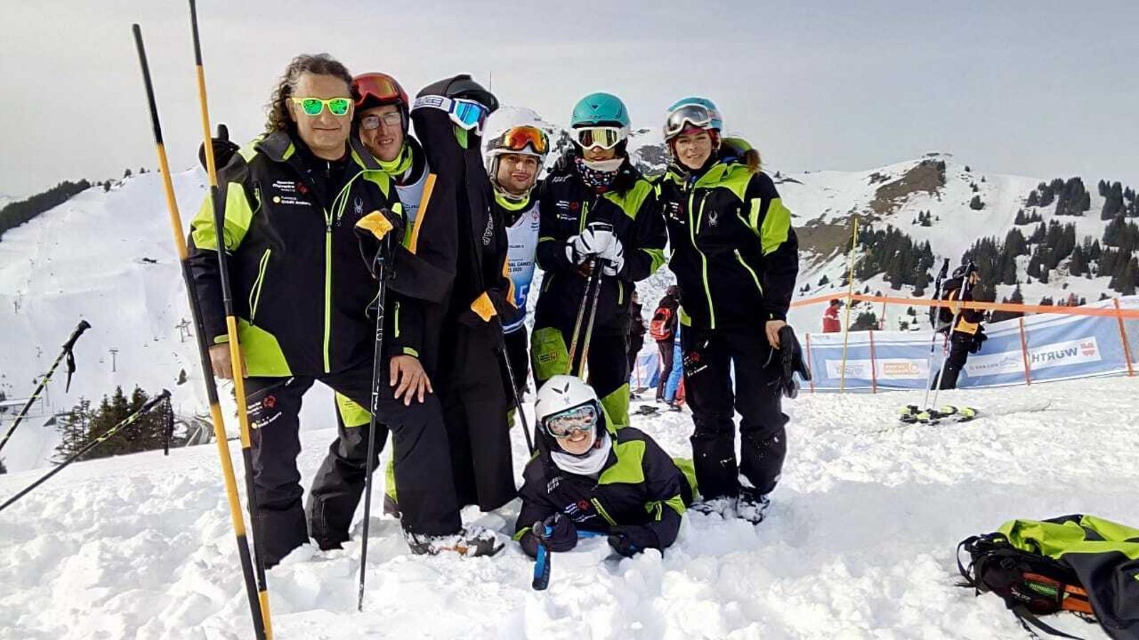 L'equip d'Special Olympics Andorra desplaçat a Suïssa. / ANA