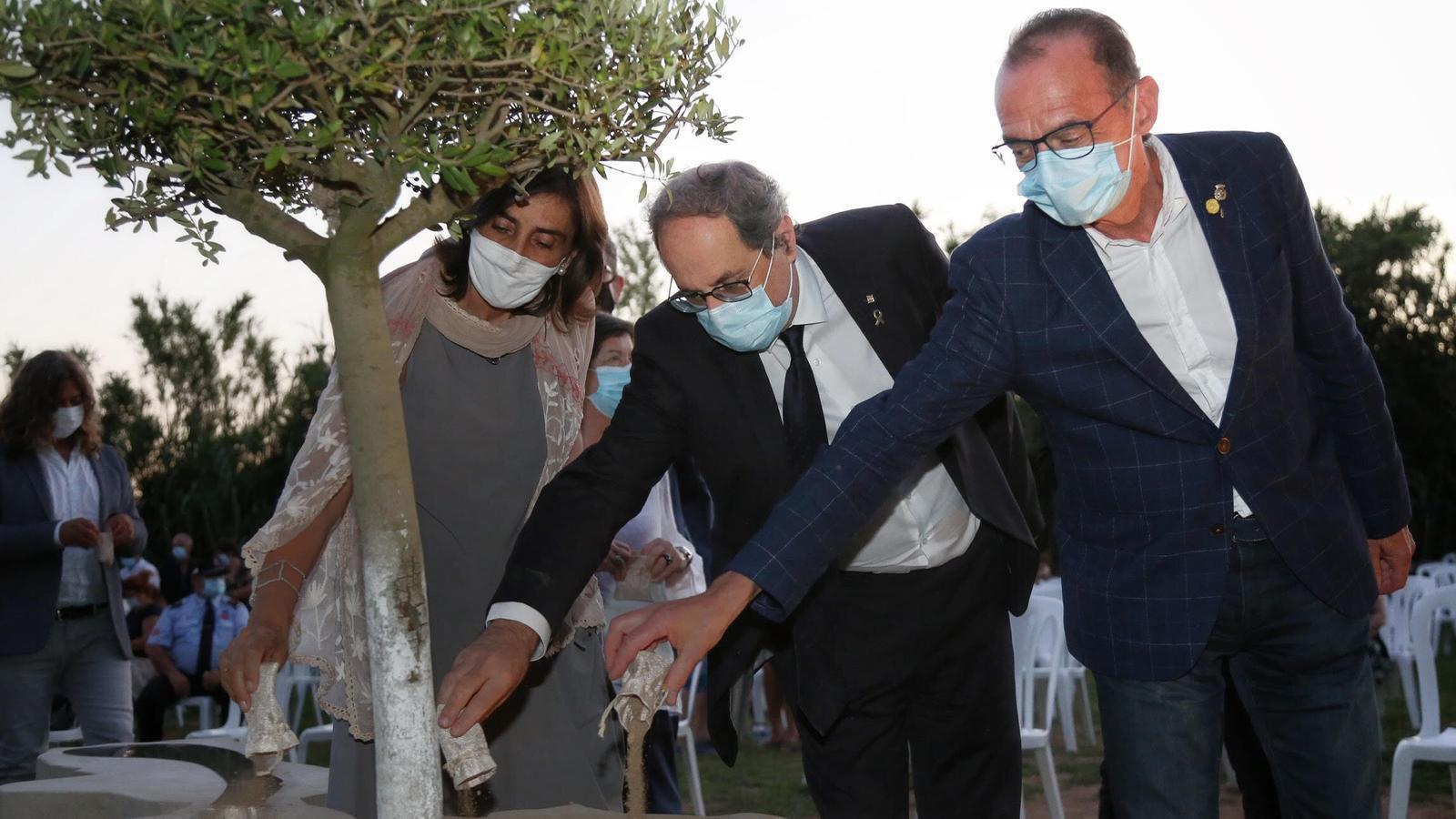 El president Torra va anunciar l'homenatge des d'un acte a Lleida.
