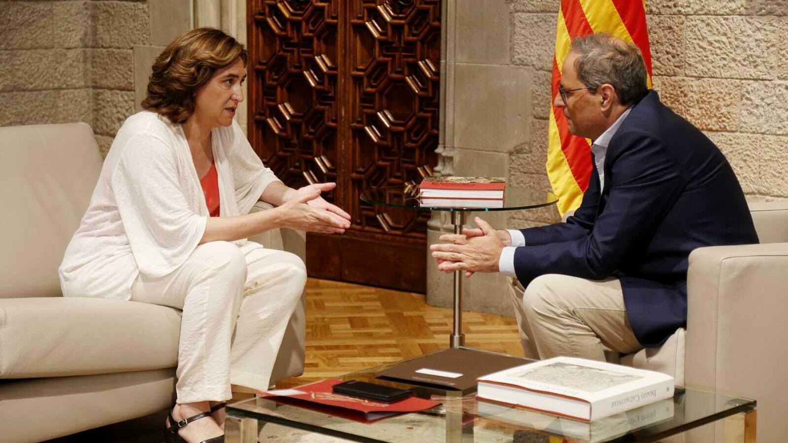 Torra i Colau s'insten a parlar dels pressupostos de la Generalitat i Barcelona a partir de setembre