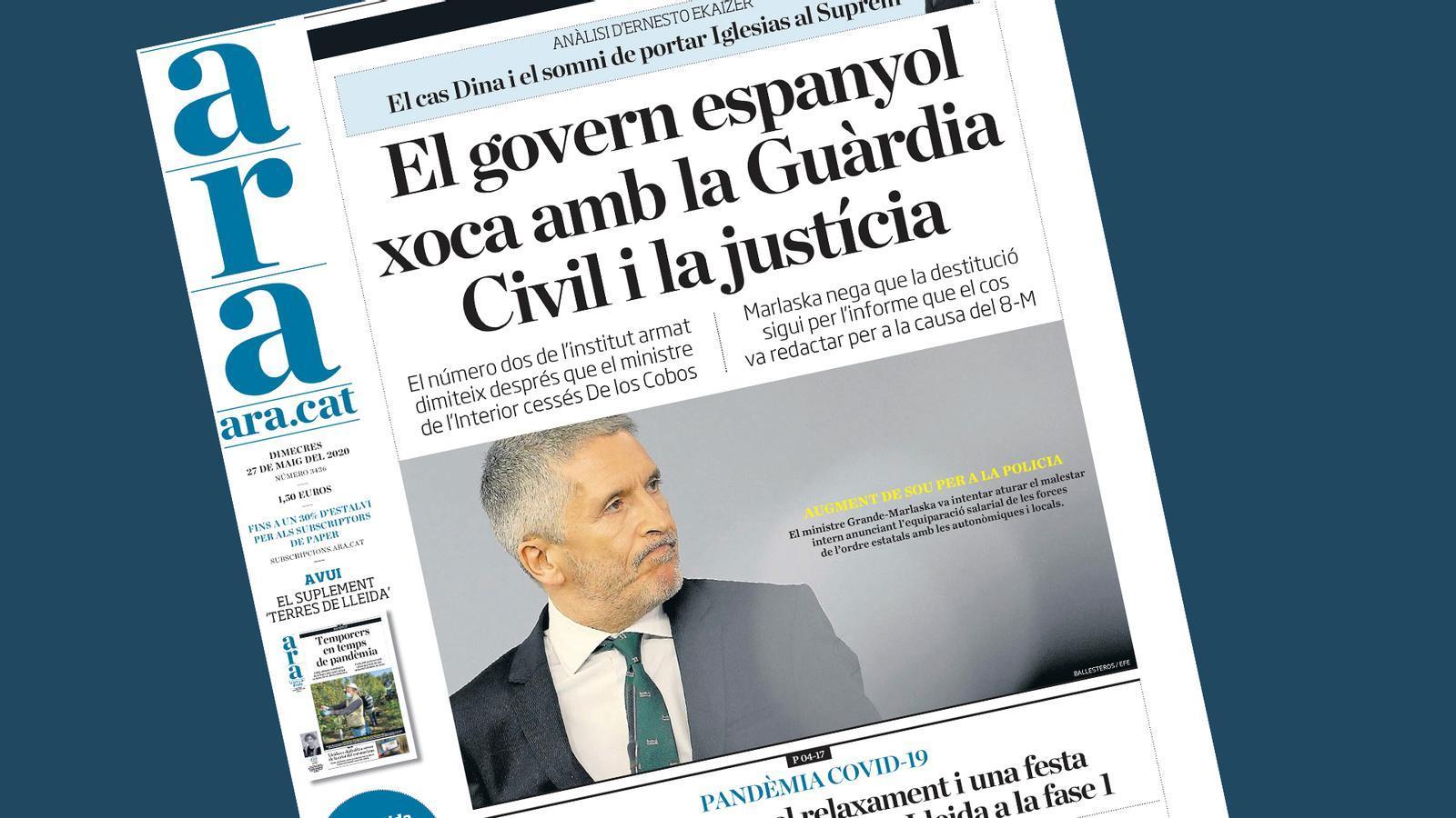 Topada del govern espanyol amb la Guàrdia Civil, Brussel·les presenta el pla de rescat i els EUA arribaran avui als 100.000 morts: les claus del dia, amb Antoni Bassas (27/05/2020)