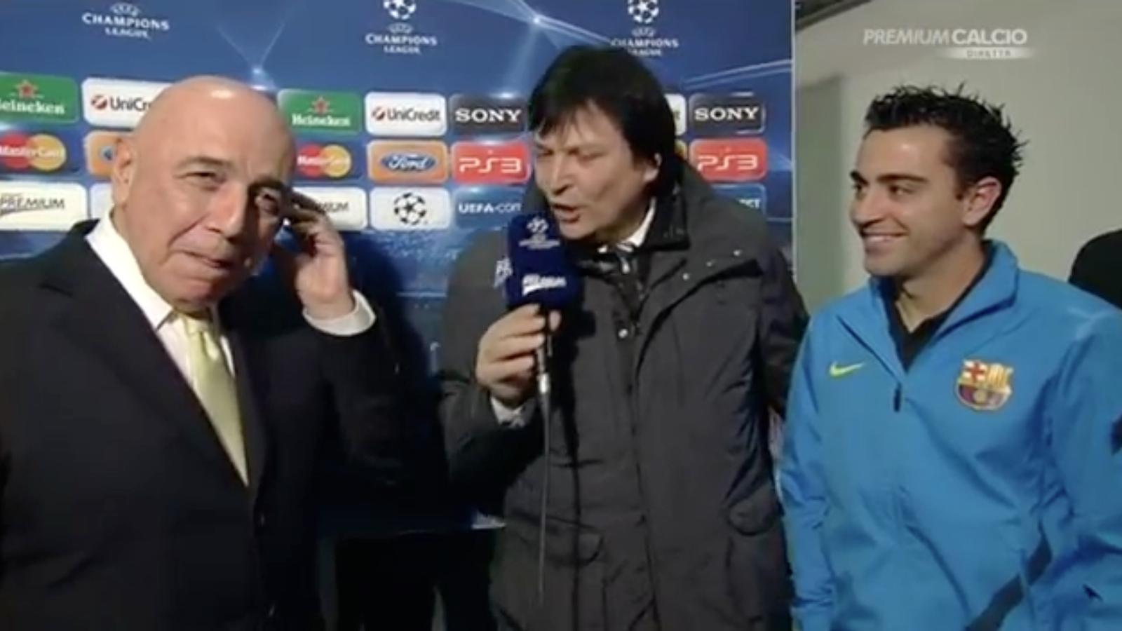 Adriano Galliani explica com va intentar fitxar Xavi
