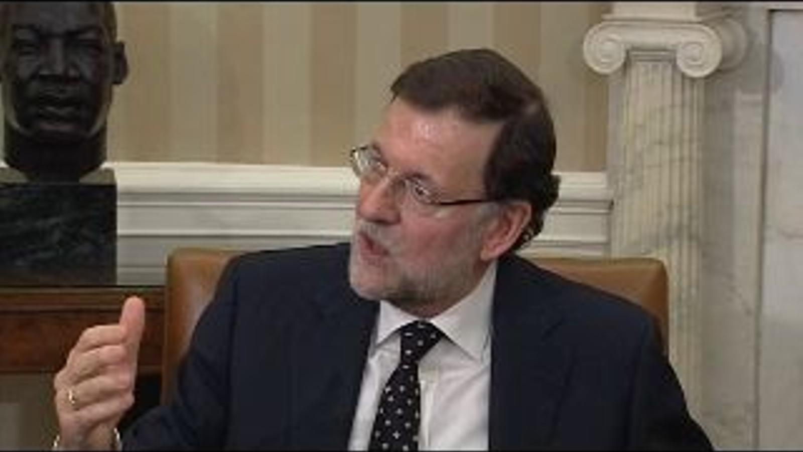 Rajoy, a la Casa Blanca: La independència seria molt dolenta sobretot per als més petits