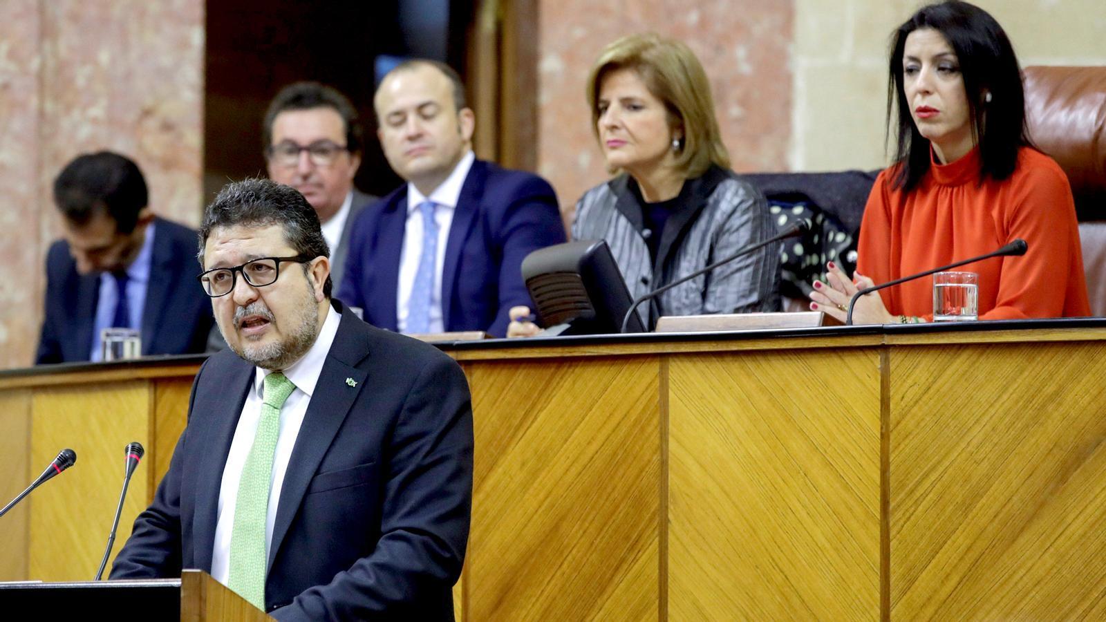 """""""Hem de deixar d'enganyar les dones i derogar la llei de violència de gènere"""", el debut de Vox al Parlament d'Andalusia"""