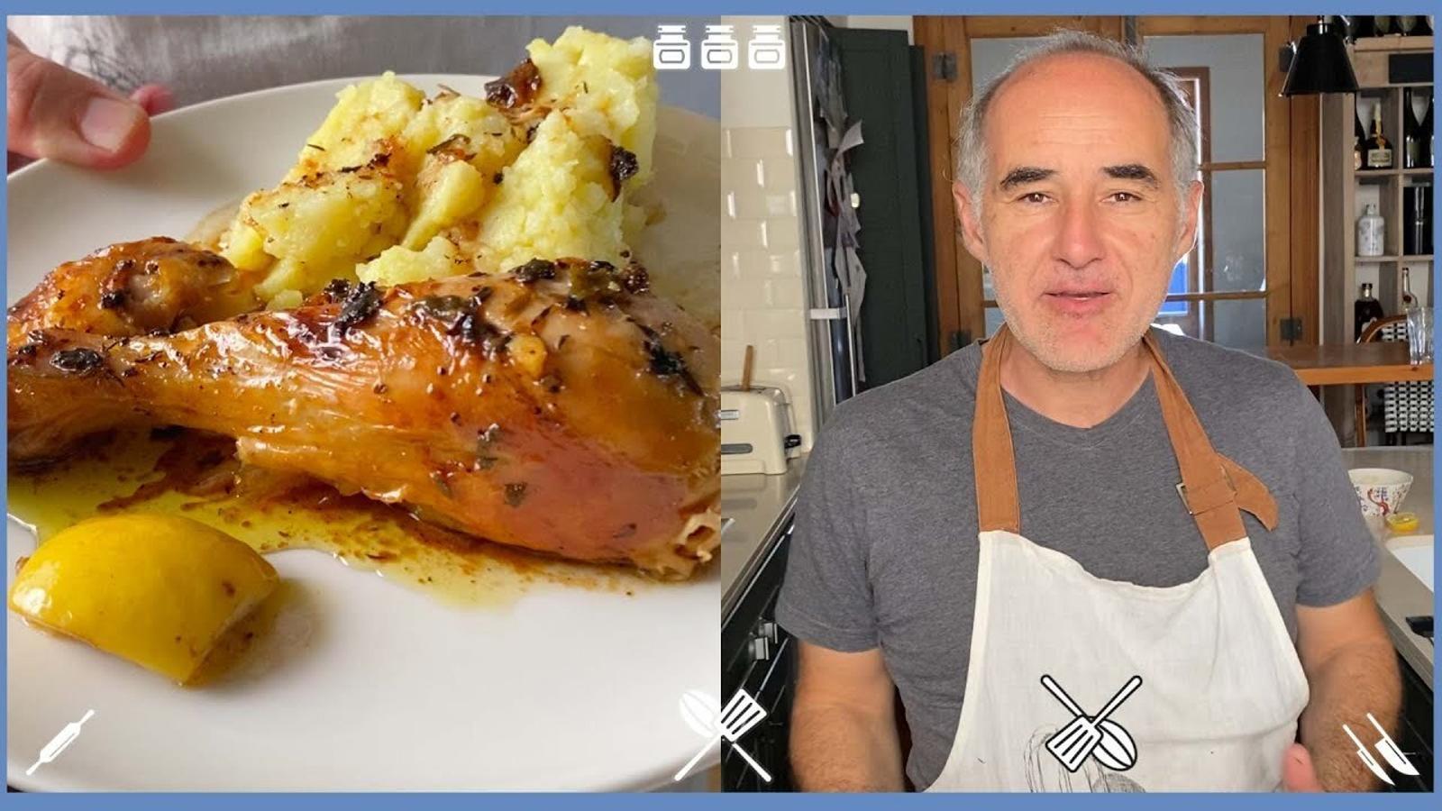 Com fer pollastre farcit amb llimona? Recepta del restaurant La Cuina d'en Garriga