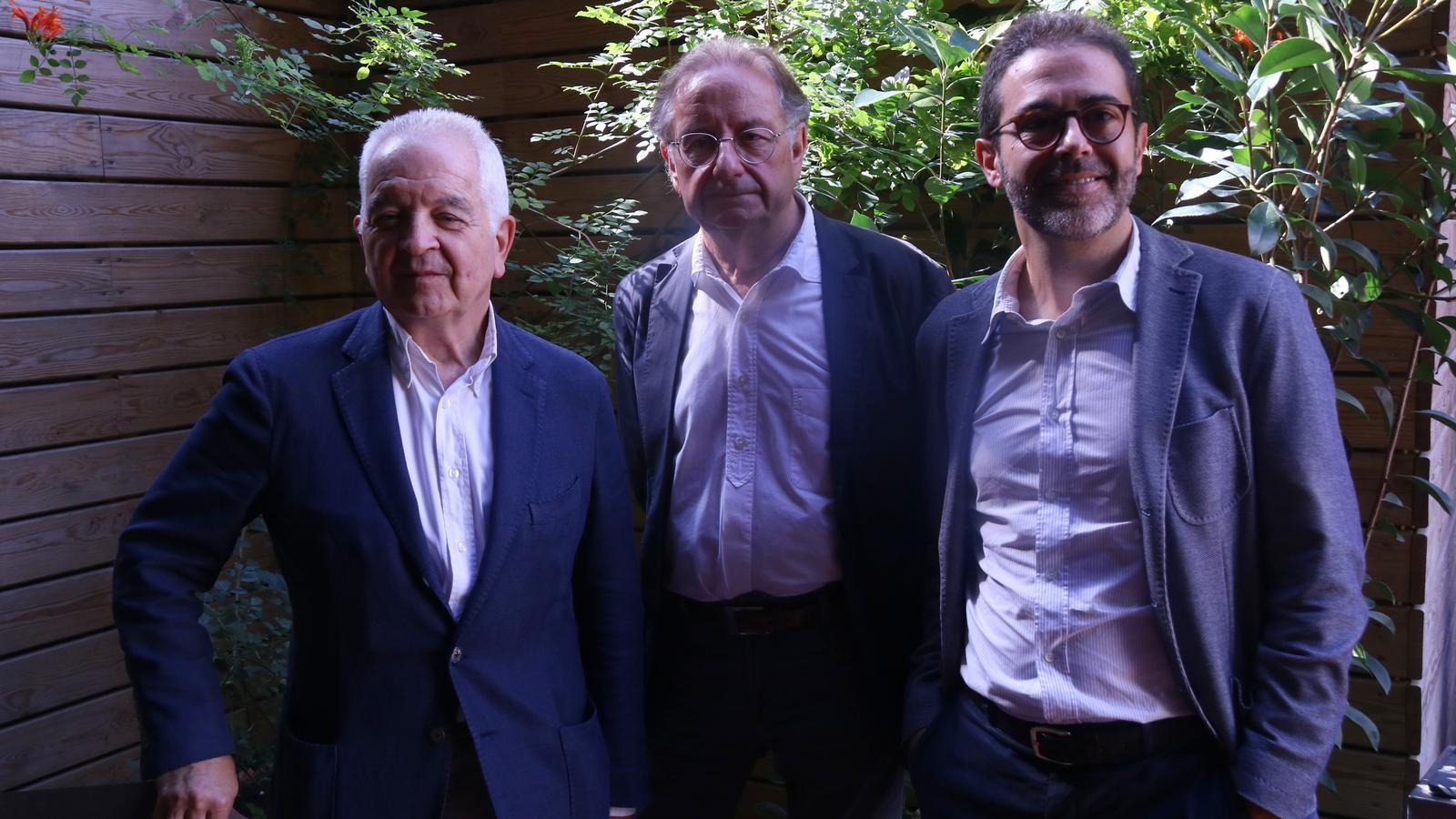 Borja de Riquer, Josep Ramoneda i Emili Rosales