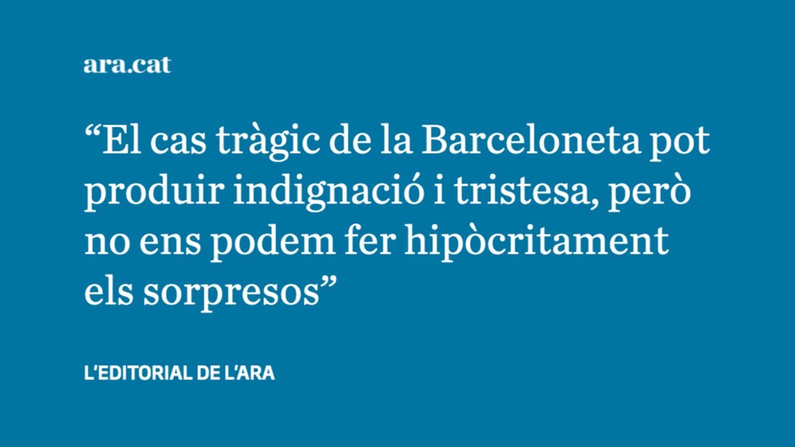 Precarietat extrema i tragèdia a la Barceloneta