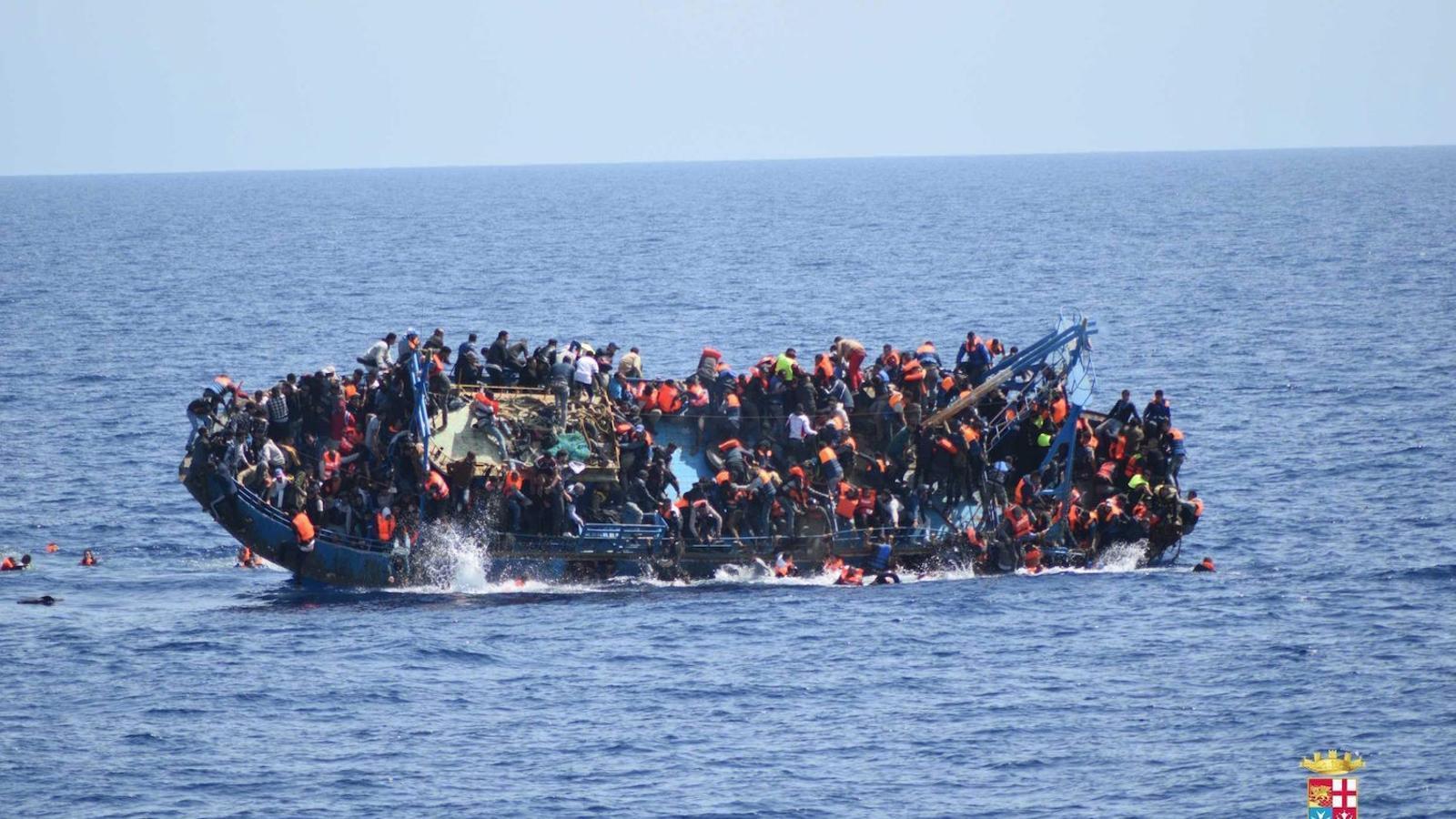 Imatges del rescat per la Marina Italiana