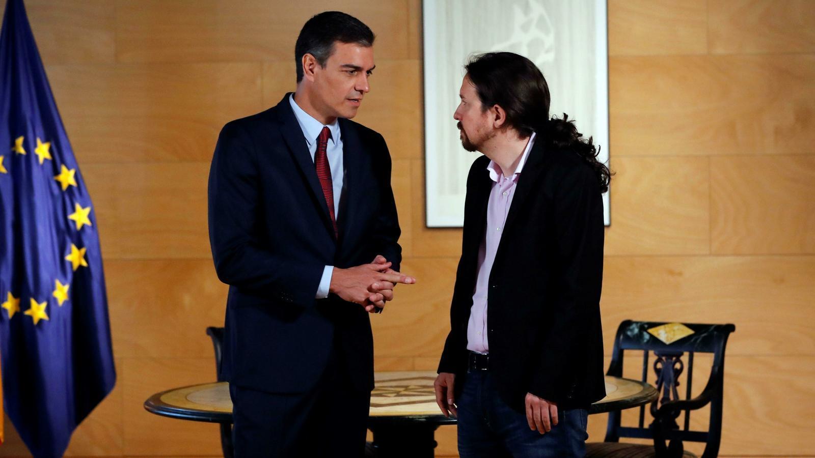 Pedro Sánchez i Pablo Iglesias la setmana passada