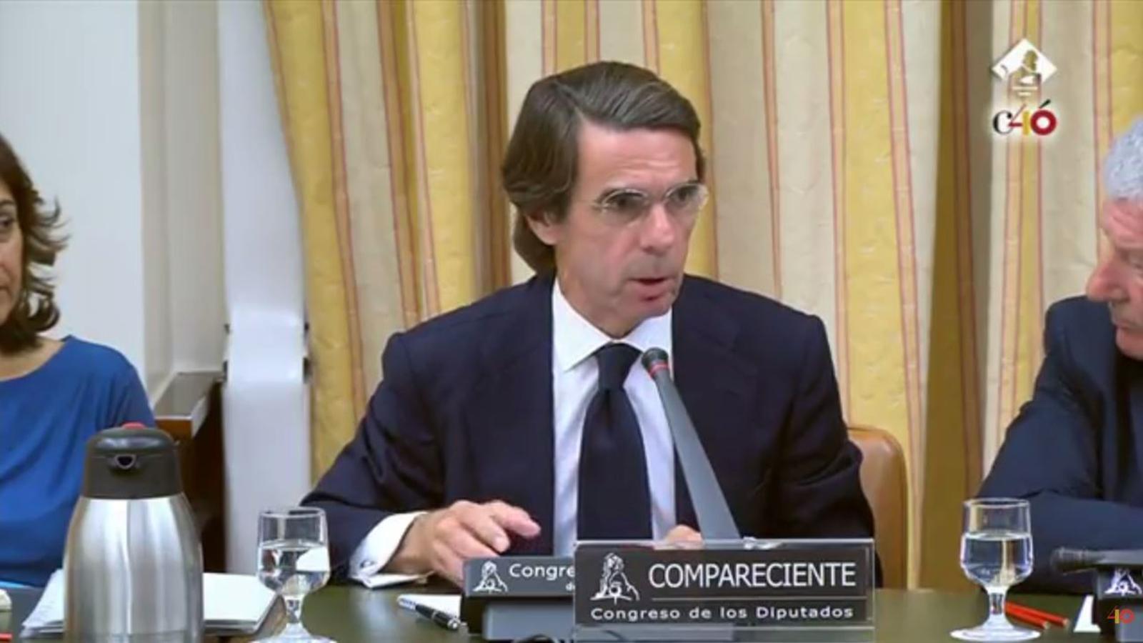 EN DIRECTE: Aznar compareix al Congrés pel finançament irregular del PP