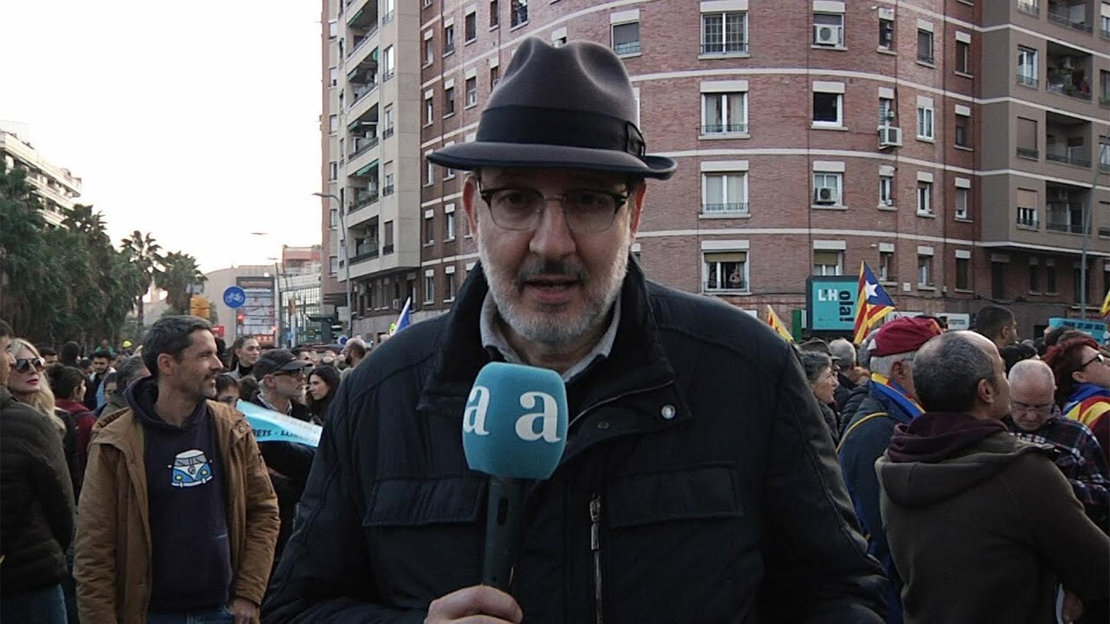 L'acció de Tsunami Democràtic amb Antoni Bassas