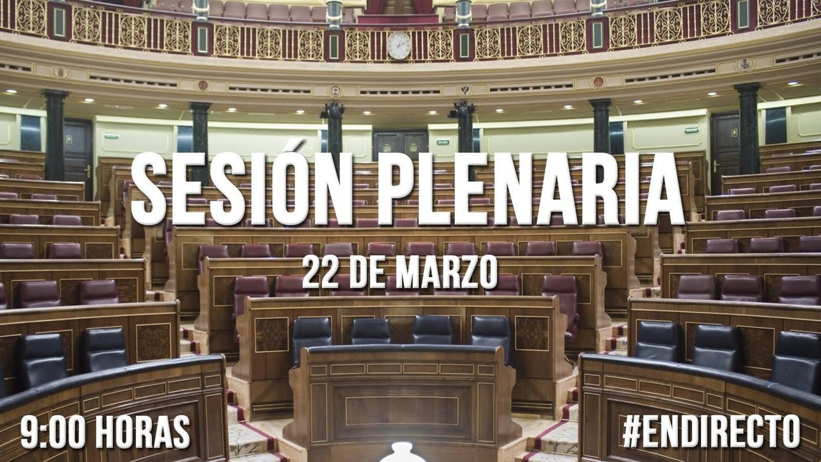 Sessió de control al govern espanyol del 22 de març