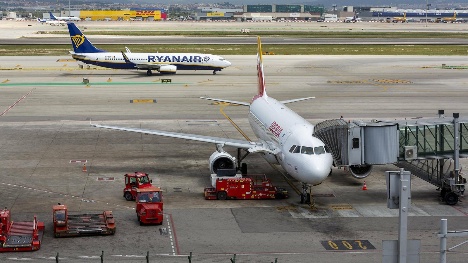 Imatge d'arxiu des de la terminal 1  de l'aeroport del Prat.