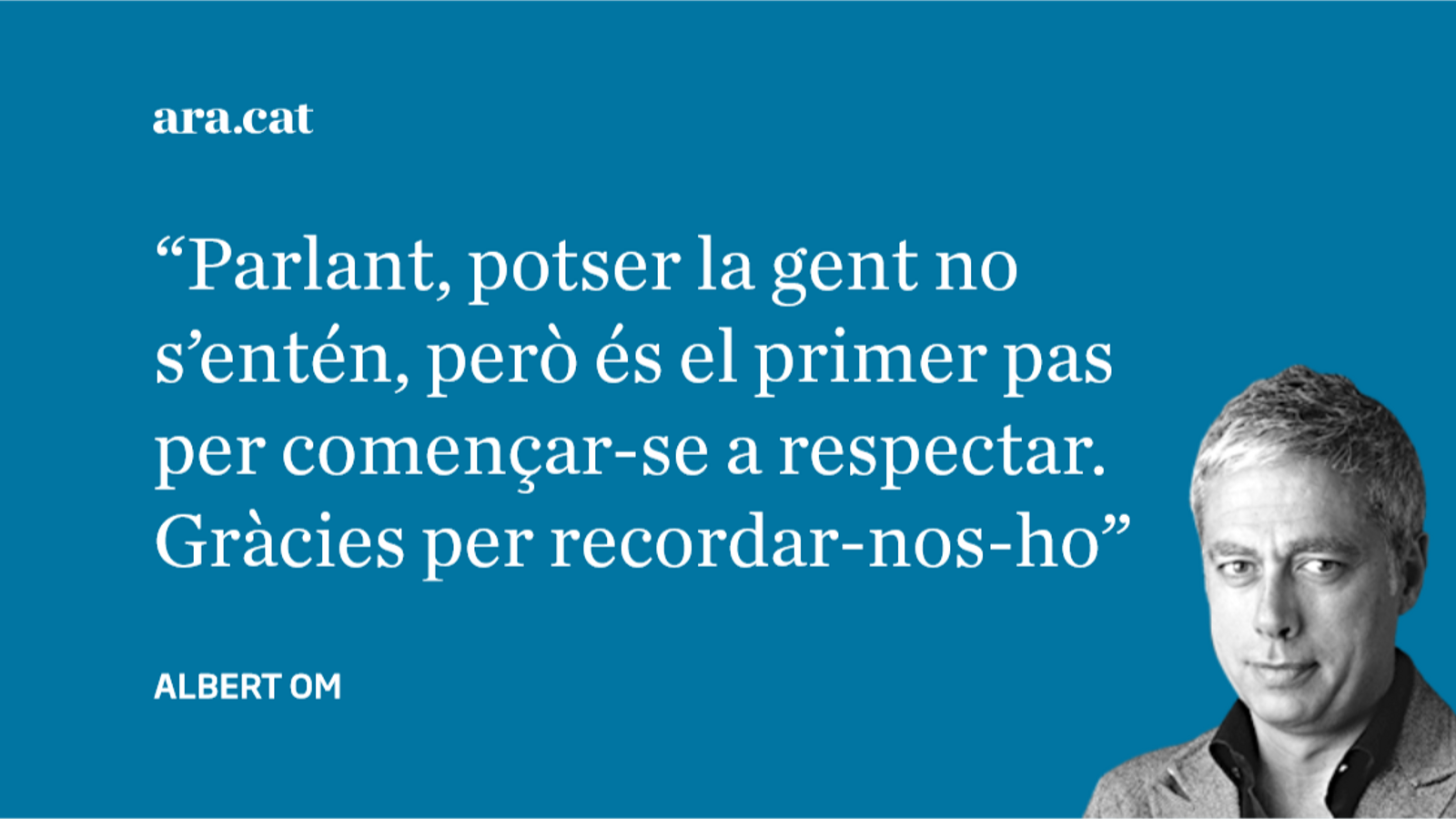 Carta a Carles Castillo: 'Els que no pensen com nosaltres'