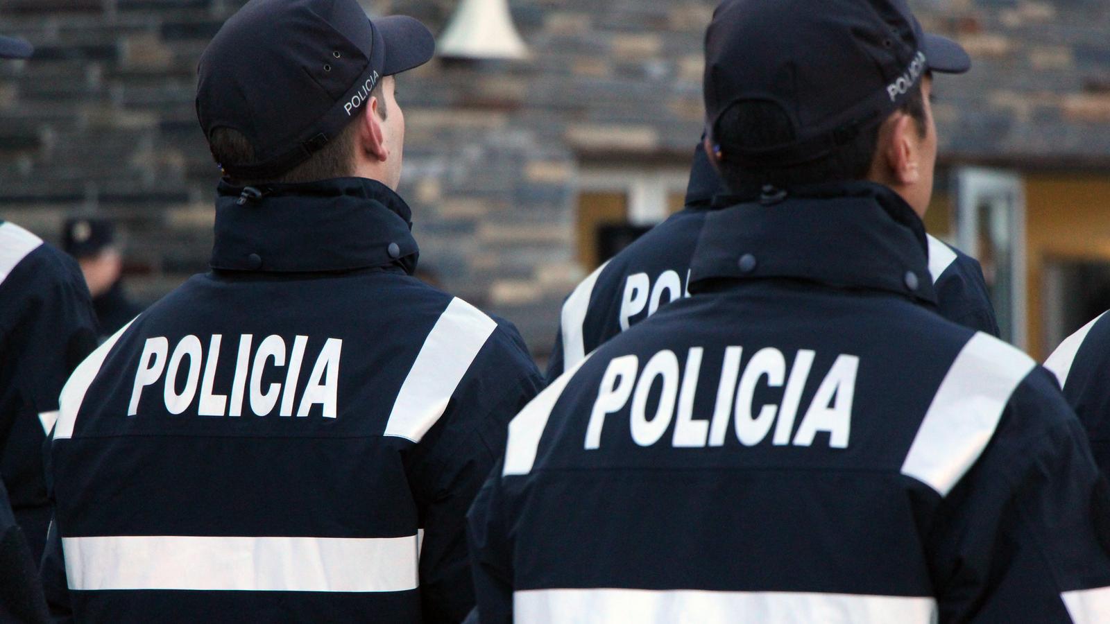 Agents del cos de Policia, en un acte recent. / C.G.