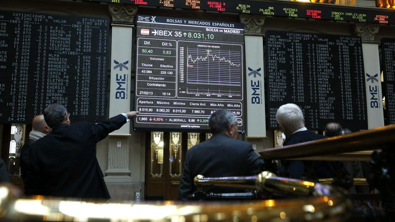 Les empreses de l'Íbex-35 van guanyar un 16% més l'any passat