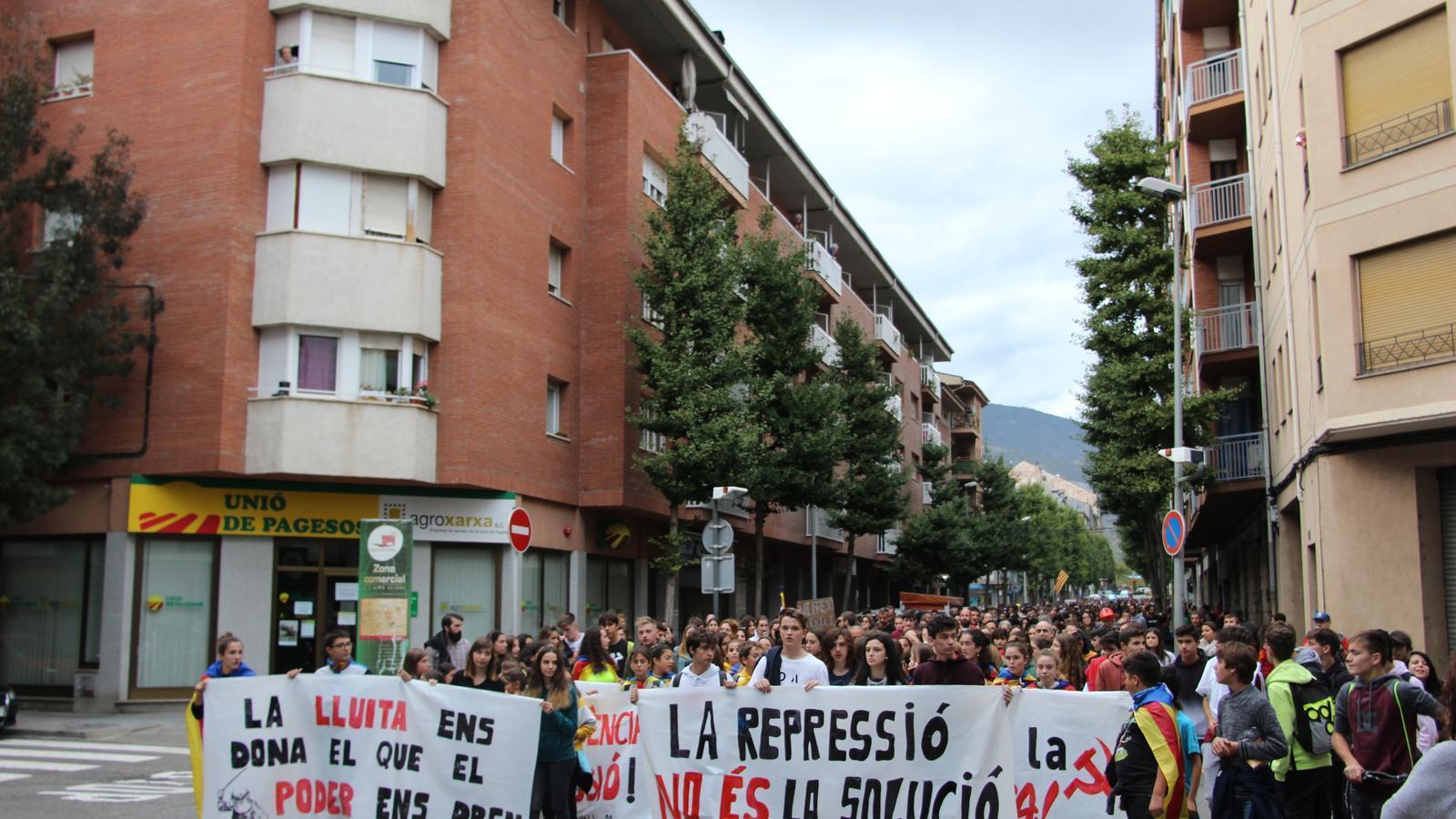 La marxa durant el seu pas per l'avinguda Salòria. / A.S.