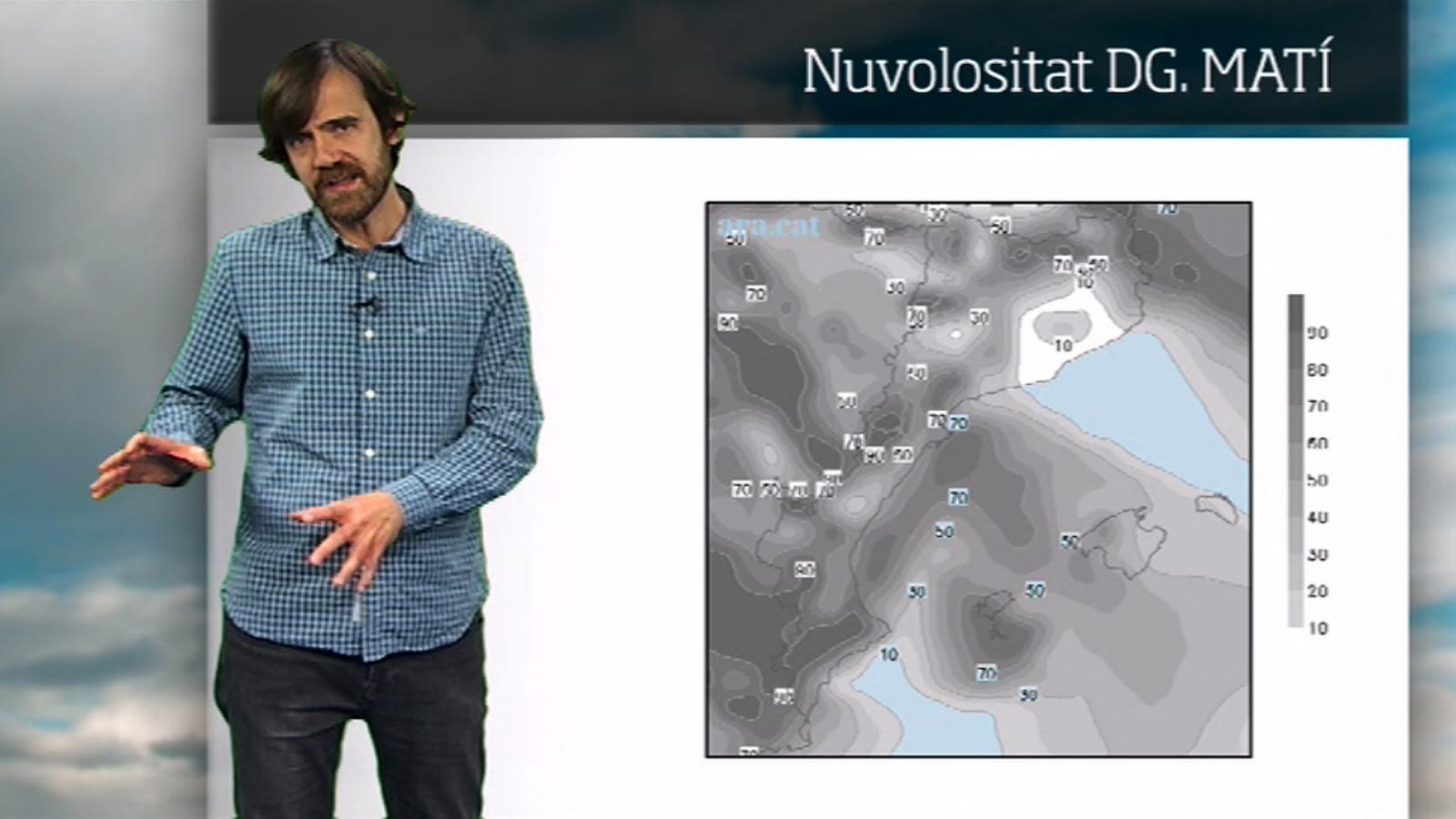La méteo en 1 minut: intervals de núvols i una mica més de fred