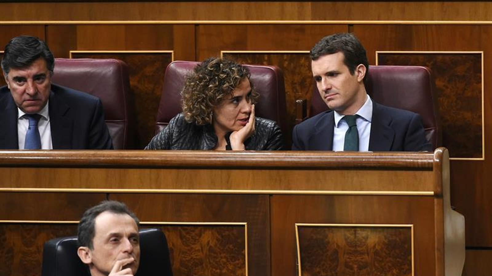 Dolors Montserrat i Pablo Casado, al Congrés / EFE