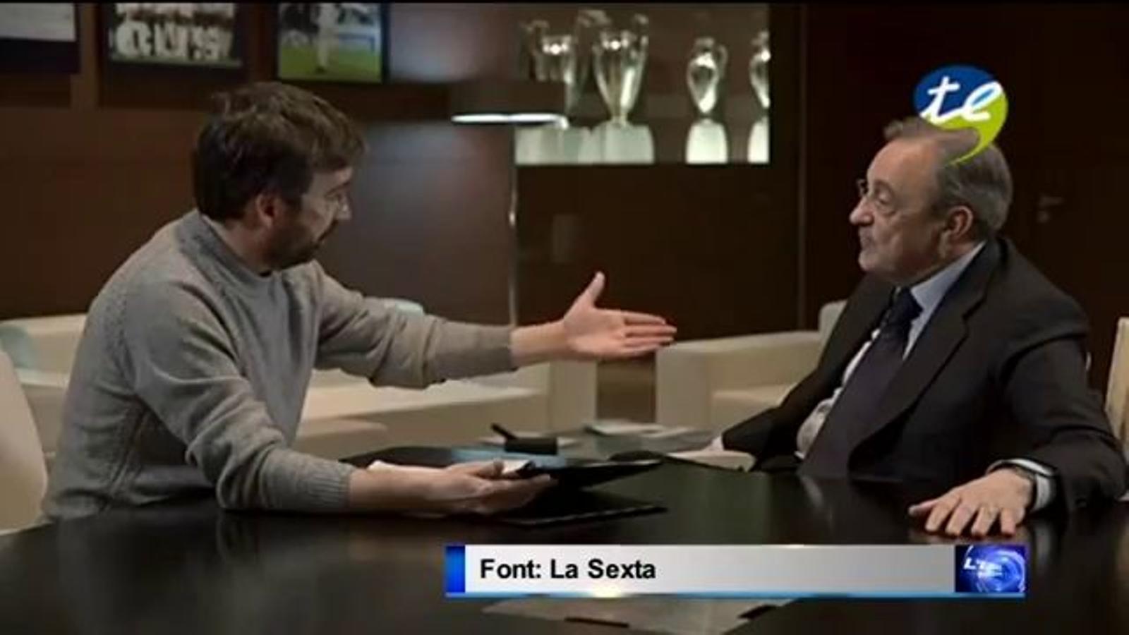 Florentino Pérez minimitza els terratrèmols provocats pel magatzem de gas Castor en una entrevista al Salvados de la Sexta