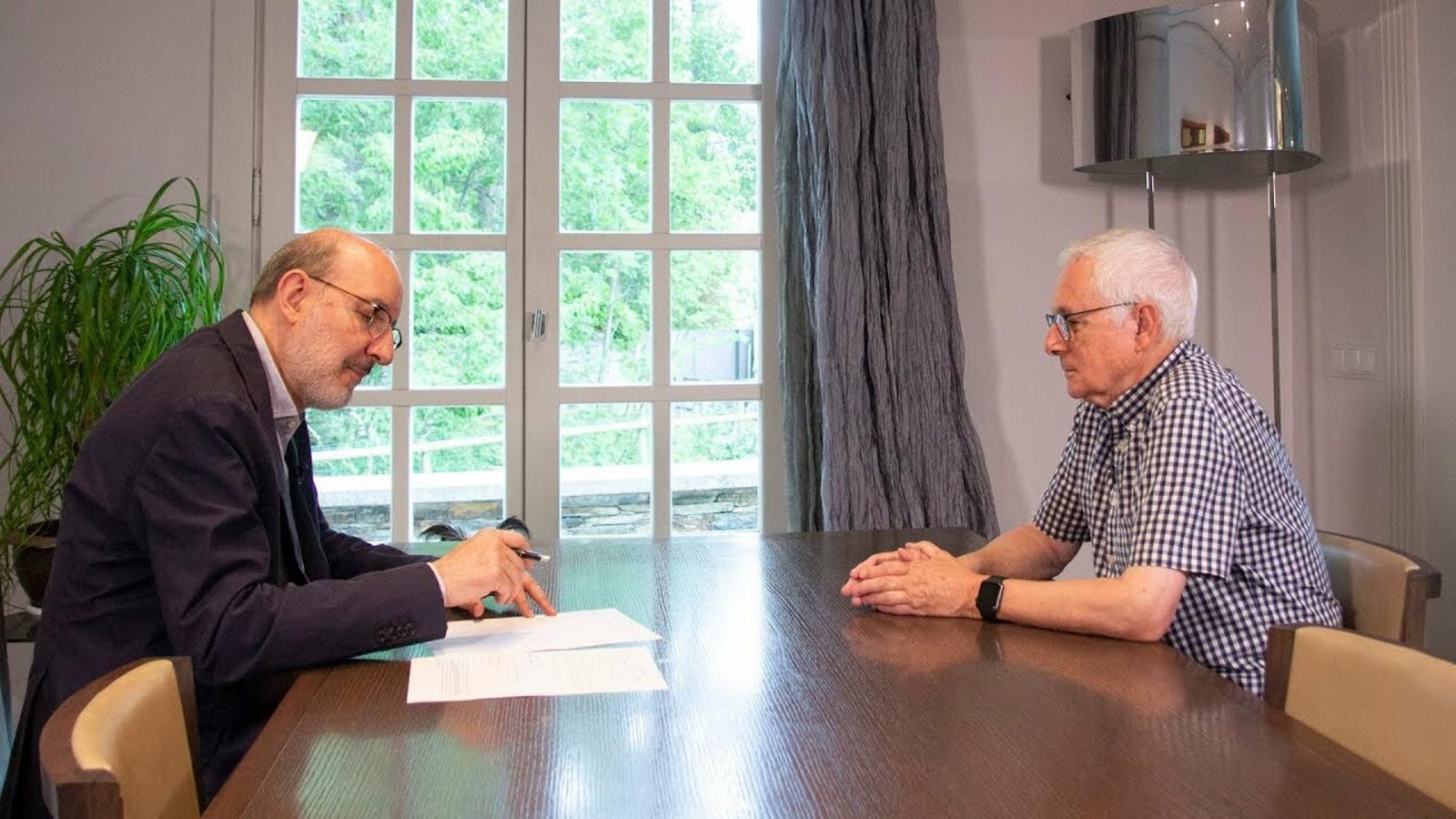 Entrevista d'Antoni Bassas a Josep Maria Boix