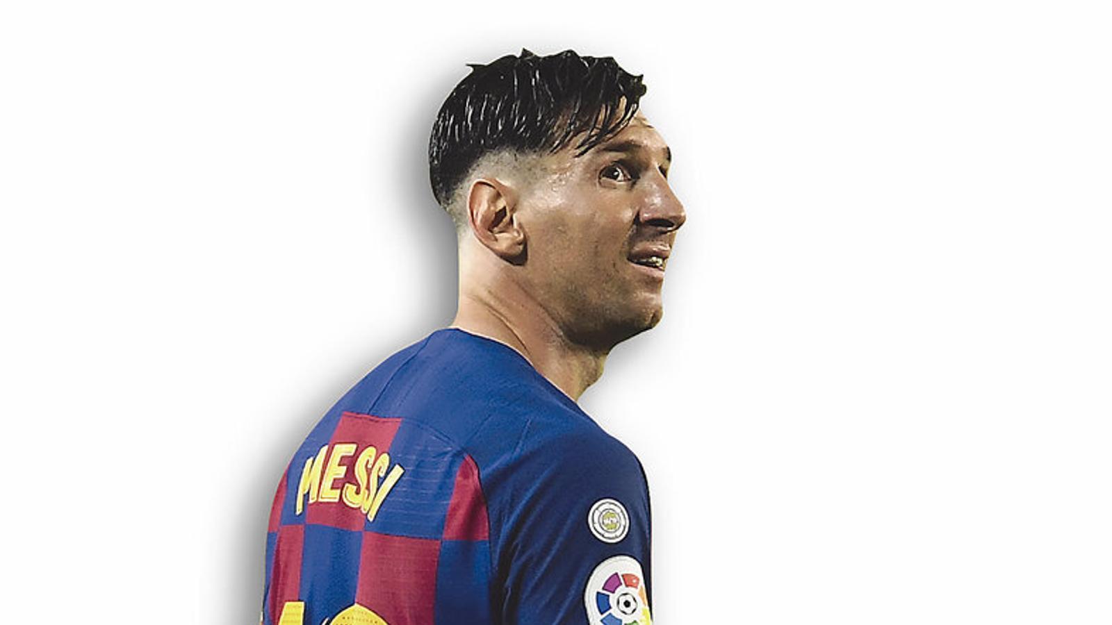 Leo Messi a l'últim partit contra l'Atlètic de Madrid,  En què va marcar el seu gol número 700 com a professional.