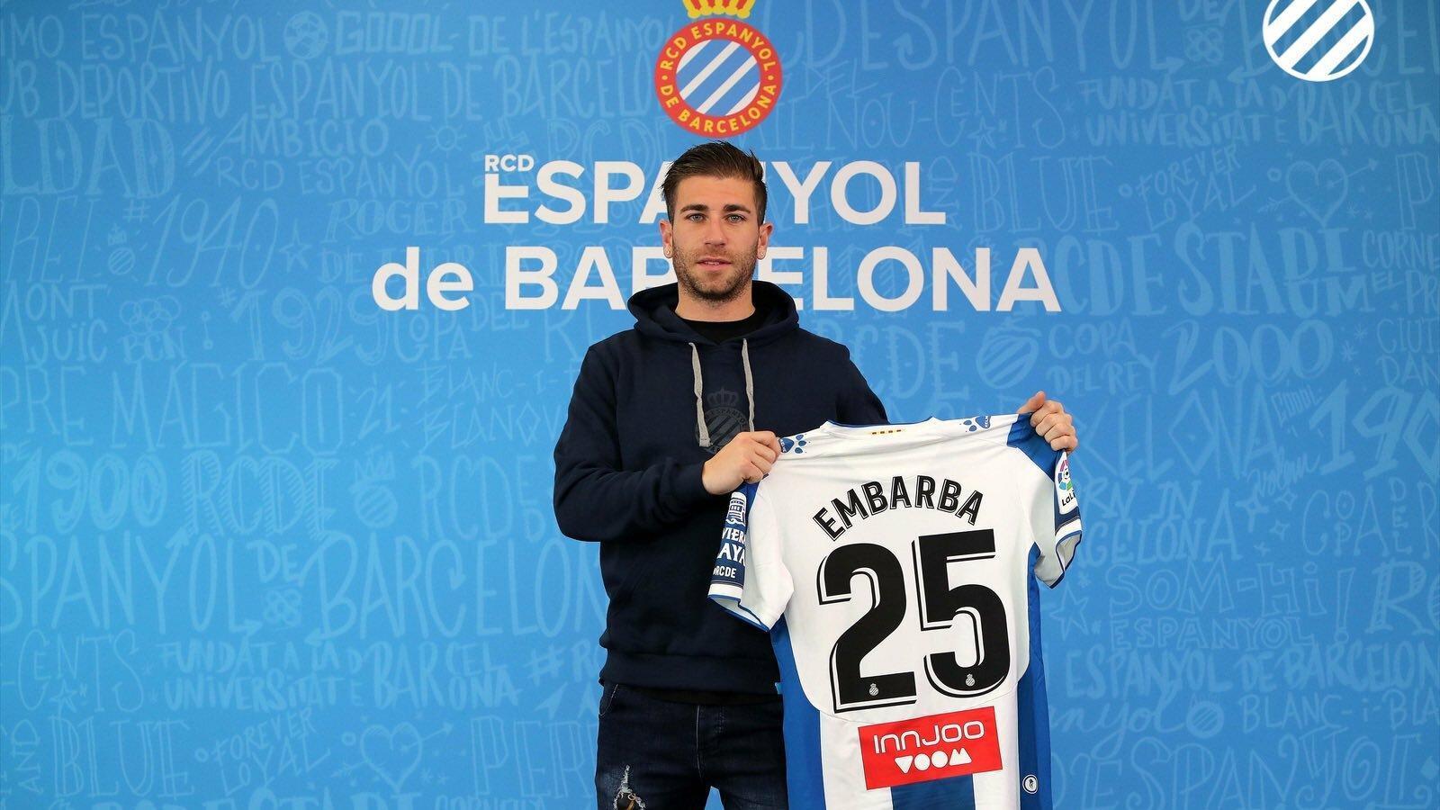 Embarba lluirà el dorsal 25 a la samarreta de l'Espanyol