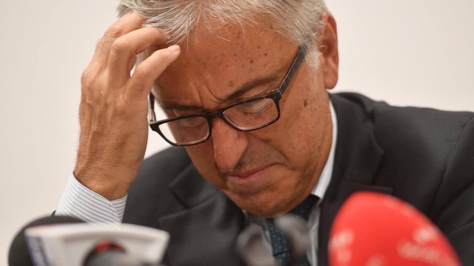 Giovanni Castellucci, conseller delegat d'Atlantia, a la roda de premsa d'aquest dissabte.