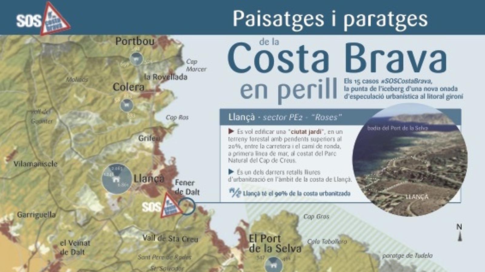 La Costa Brava, en perill
