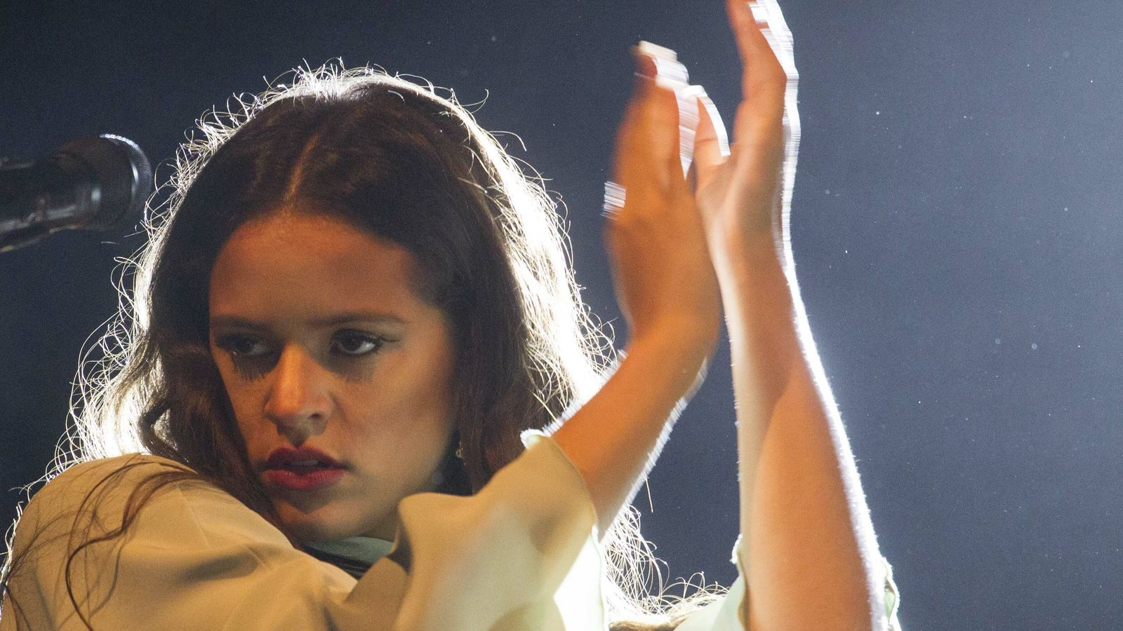 Rosalía en concert a la Mercè 2017.