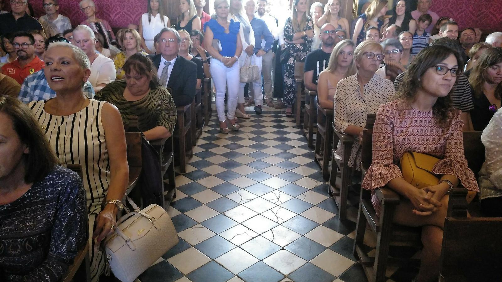 La sala consistorial de Llucmajor, aquest dissabte.
