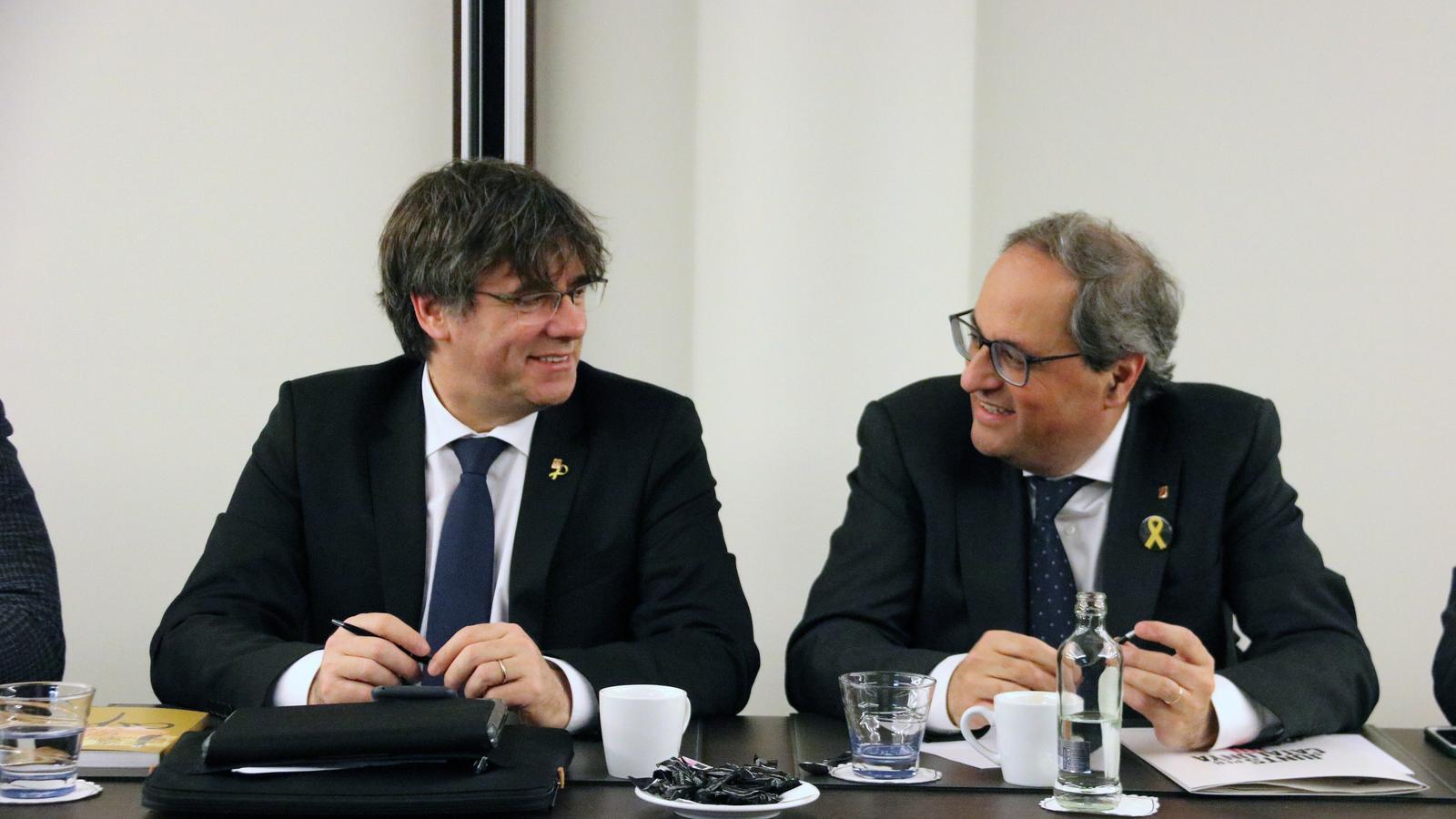 Puigdemont deixa en mans de la Crida com anar a les europees