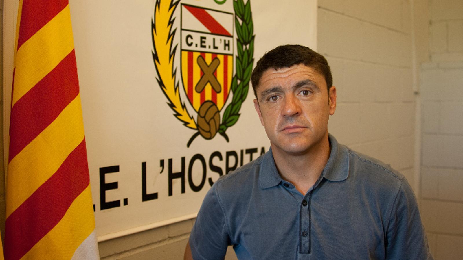 Ángel Pedraza va ser aquesta temporada tècnic de L'Hospitalet, de 2a B.