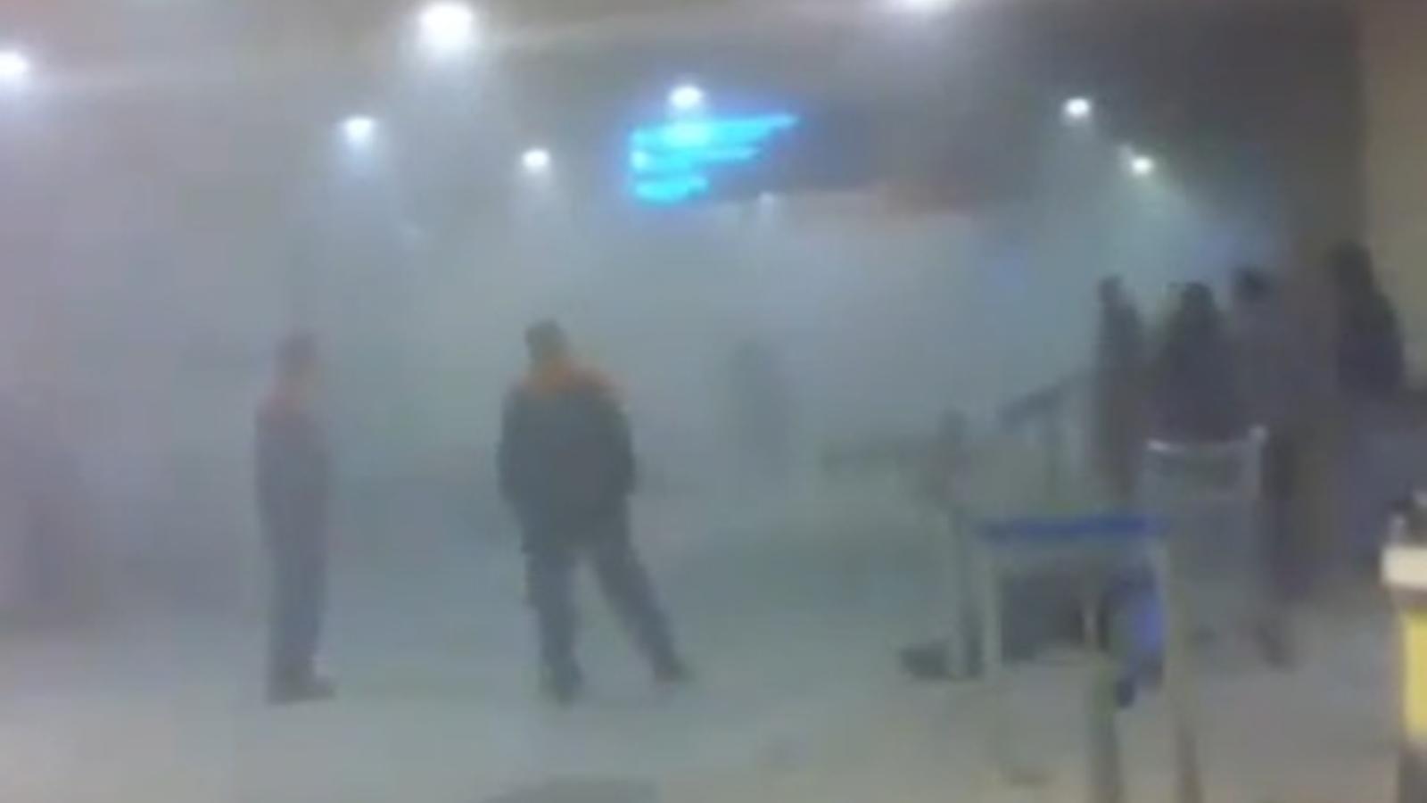 Imatges de l'atemptat a l'aeroport moscovita de Domodédovo