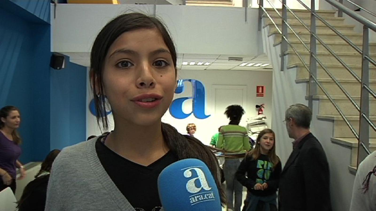 En la visita de l'Escola Joan Miró a l'ARA, Quim: He descobert que un diari no és tan fàcil de fer