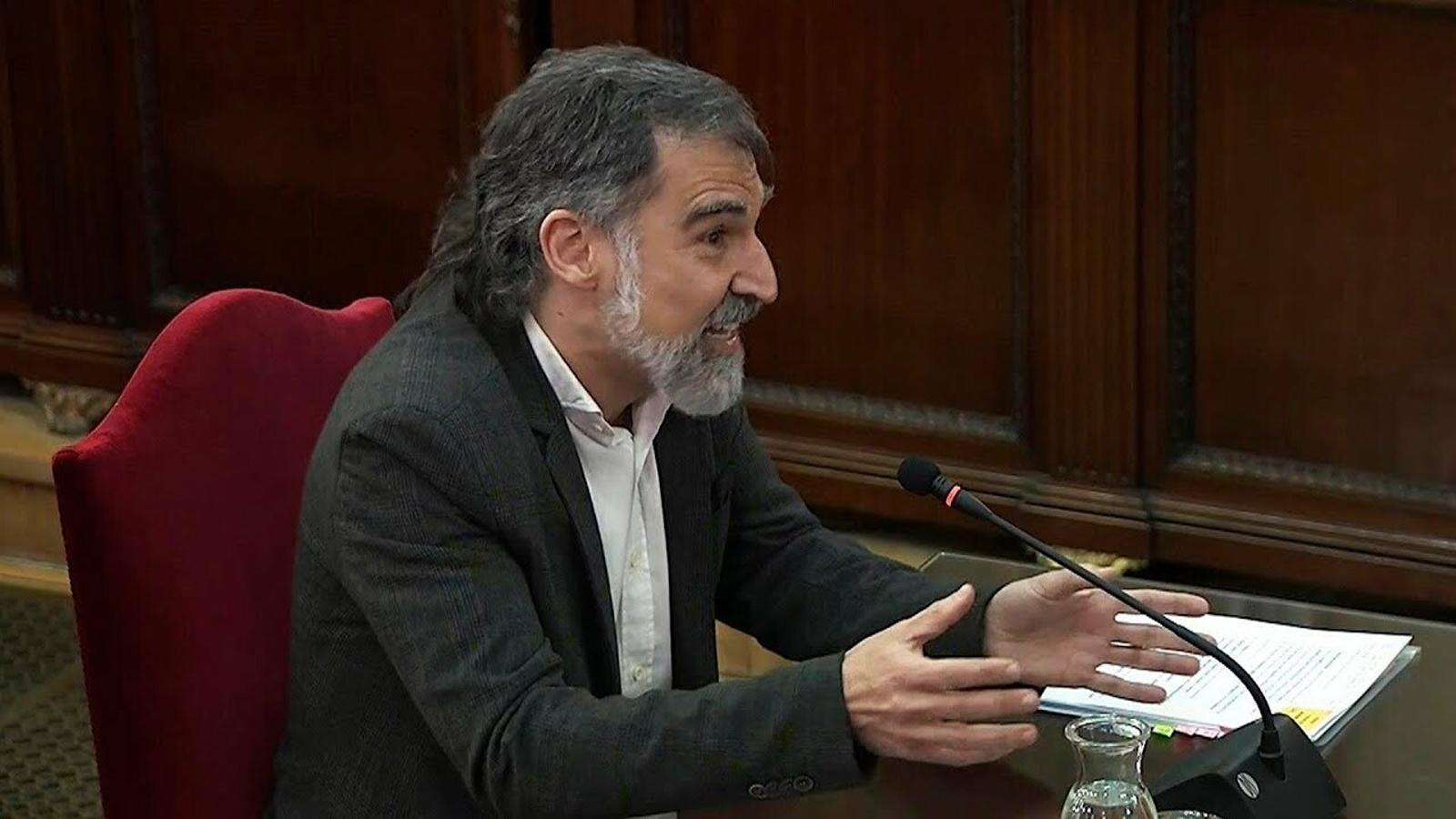 Jordi Cuixart durant la seva declaració inicial al Tribunal Suprem